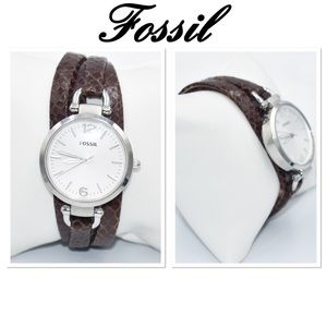 Fossil Georgia ES3155 Brown Leather Watch
